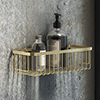 Arezzo Brushed Brass 300mm Wire Shower Basket profile small image view 1