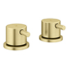 """Arezzo Brushed Brass 3/4"""" Deck Bath Side Valves (Pair) profile small image view 1"""