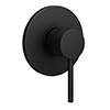 Arezzo Matt Black Round Concealed Manual Shower Valve profile small image view 1