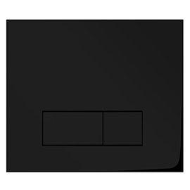 Arezzo Matt Black Dual Flush Plate