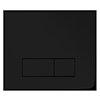 Arezzo Matt Black Dual Flush Plate profile small image view 1