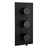 Arezzo Round Triple Concealed Thermostatic Shower Valve with Diverter - Matt Black profile small image view 1