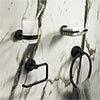 Arezzo Round Matt Black 4-Piece Bathroom Accessory Pack profile small image view 1