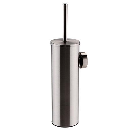 Arezzo Gunmetal Grey Wall Mounted Toilet Brush + Holder
