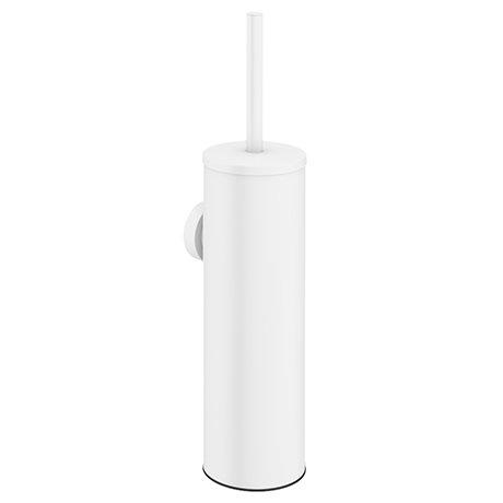 Arezzo Matt White Wall Mounted Toilet Brush + Holder