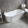 Arezzo 1700 x 750 Modern Curved Corner Bath profile small image view 1