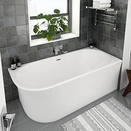 Arezzo 1700 x 750 Modern Curved Corner Bath