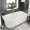 Arezzo 1700 x 750 Modern Curved Corner Bath profile small image view 1
