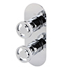 Arezzo Chrome Industrial Style Round Modern Twin Concealed Shower Valve profile small image view 1