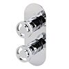 Arezzo Chrome Industrial Style Round Modern Twin Concealed Shower Valve with Diverter profile small image view 1