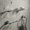 Arezzo Industrial Style Chrome 4-Piece Bathroom Accessory Pack profile small image view 1