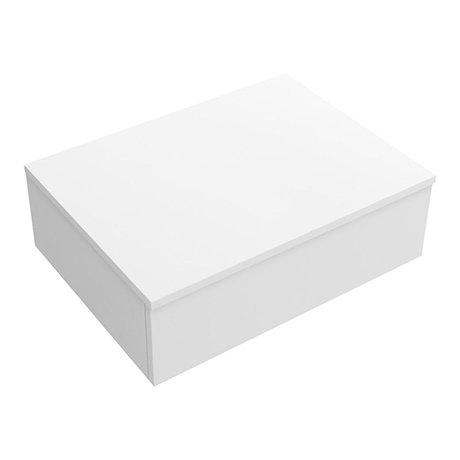 Arezzo Wall Hung Countertop Basin Shelf with Drawer - Matt White - 600 x 450mm
