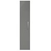 Arezzo Matt Grey Wall Hung Tall Storage Cabinet with Chrome Handle profile small image view 1