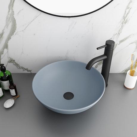 Arezzo 400mm Matt Grey Round Counter Top Basin