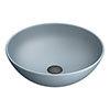 Arezzo 400mm Matt Grey Round Counter Top Basin profile small image view 1