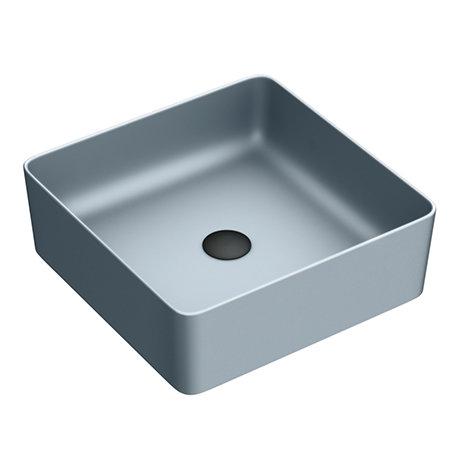 Arezzo 380 x 380mm Matt Grey Square Counter Top Basin