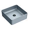 Arezzo 380 x 380mm Matt Grey Square Counter Top Basin profile small image view 1