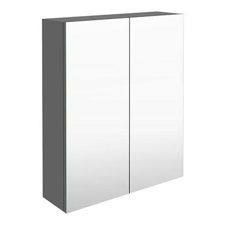 Arezzo 600 Matt Grey 2-Door Mirror Cabinet
