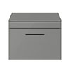 Arezzo 600 Matt Grey Wall Hung Vanity Unit with Worktop + Matt Black Handle profile small image view 1