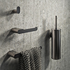 Arezzo Brushed Gunmetal Grey 4-Piece Bathroom Accessory Pack profile small image view 1