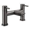Arezzo Round Gunmetal Grey Bath Filler Tap profile small image view 1