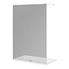 Arezzo 1400 x 800 Grey Tinted Glass Wet Room (inc. 1400 Screen + Tray) profile small image view 1