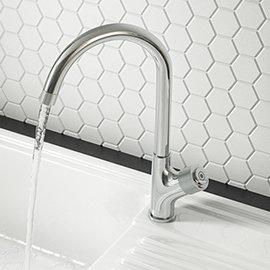 Arezzo Chrome Industrial Style 1-Touch Kitchen Mixer Tap