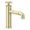 Arezzo Brushed Brass Industrial Style Mono Basin Mixer profile small image view 1
