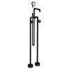 Arezzo Matt Black Industrial Style Freestanding Bath Shower Mixer Tap profile small image view 1