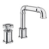 Arezzo Chrome 2TH Industrial Style Deck Mounted Basin Mixer profile small image view 1