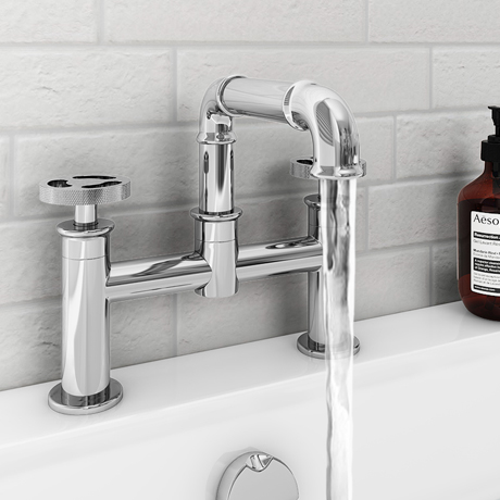 Arezzo Chrome Industrial Style Bath Filler
