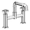 Arezzo Chrome Industrial Style Bath Filler profile small image view 1