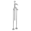 Arezzo Chrome Industrial Style Freestanding Bath Shower Mixer Tap profile small image view 1