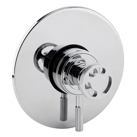 Arezzo Chrome Industrial Style Concealed Dual Shower Valve