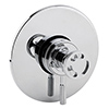 Arezzo Chrome Industrial Style Concealed Dual Shower Valve profile small image view 1