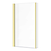 Arezzo Brushed Brass L-Shaped Hinged Bath Screen profile small image view 1
