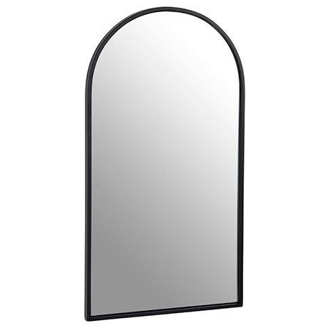Arezzo Large 900 x 500 Arch Black Frame Wall Mirror