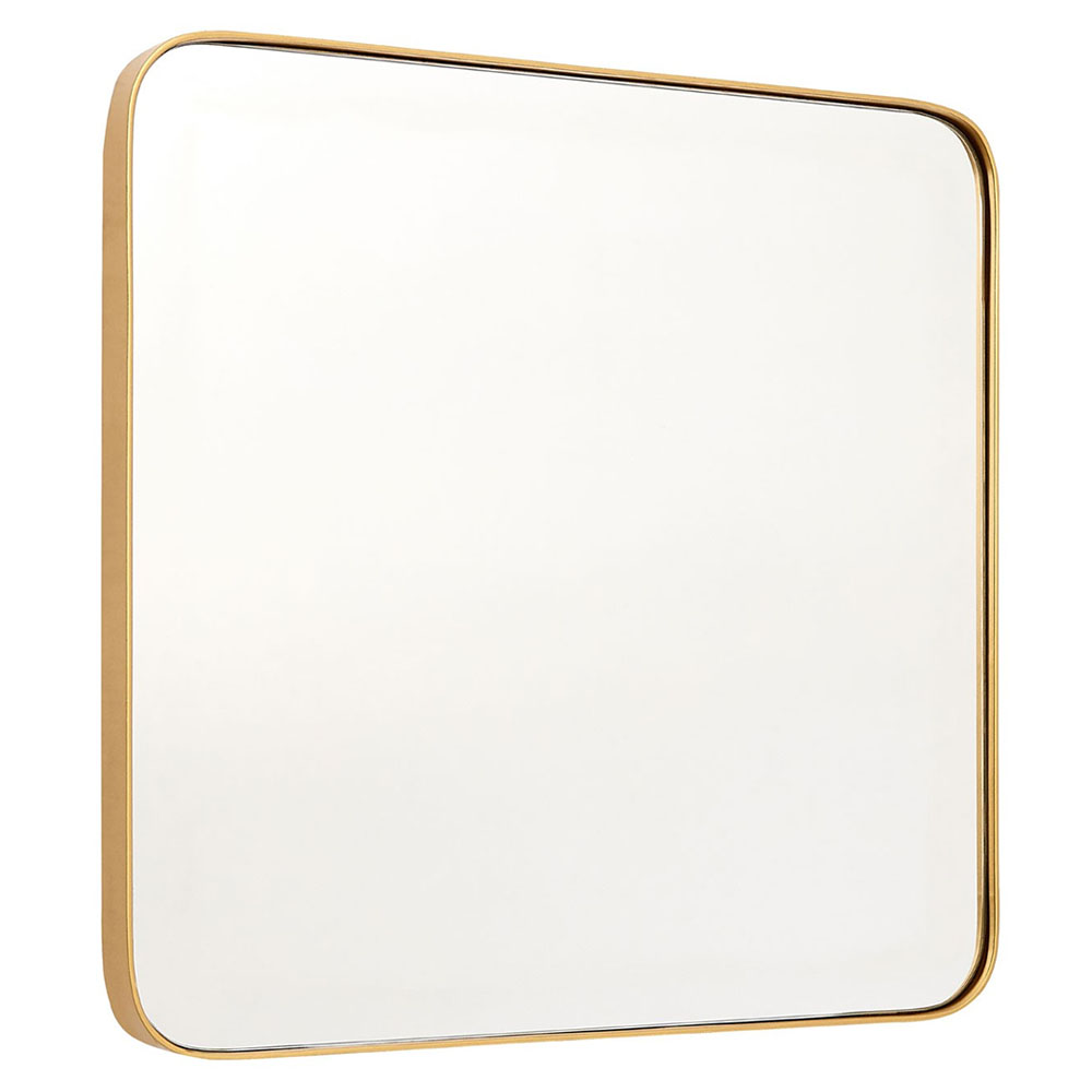 Arezzo Large 500 x 500 Gold Frame Square Wall Mirror