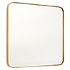 Arezzo Large 500 x 500 Gold Frame Square Wall Mirror profile small image view 1