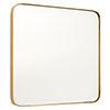 Arezzo Medium 400 x 400 Gold Frame Square Wall Mirror profile small image view 1