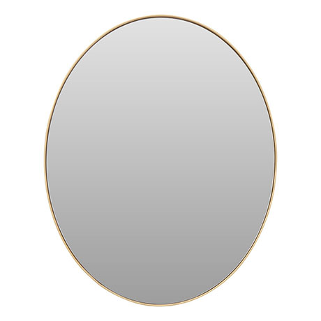 Arezzo Large 600 x 500 Gold Frame Oval Wall Mirror