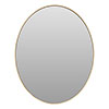 Arezzo Large 600 x 500 Gold Frame Oval Wall Mirror profile small image view 1