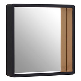 Arezzo Large 540 x 540 Black & Gold Frame Square Wall Mirror