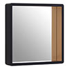 Arezzo Large 540 x 540 Black & Gold Frame Square Wall Mirror profile small image view 1