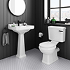 Arezzo Traditional 4-Piece 1TH Bathroom Suite (inc. Matt Black Lever) profile small image view 1