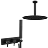 Arezzo Matt Black 2-Way Thermostatic Shower with Diverter, Fixed Shower Head and Hand Shower profile small image view 1
