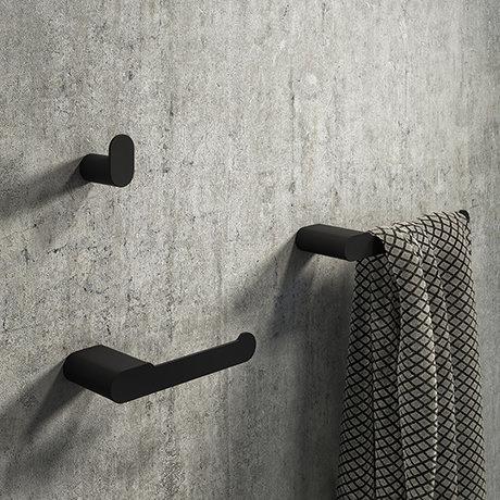 Arezzo Matt Black 3-Piece Bathroom Accessory Pack