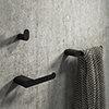 Arezzo Matt Black 3-Piece Bathroom Accessory Pack profile small image view 1