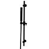 Arezzo Matt Black Modern Slide Rail Kit with Pencil Shower Handset profile small image view 1