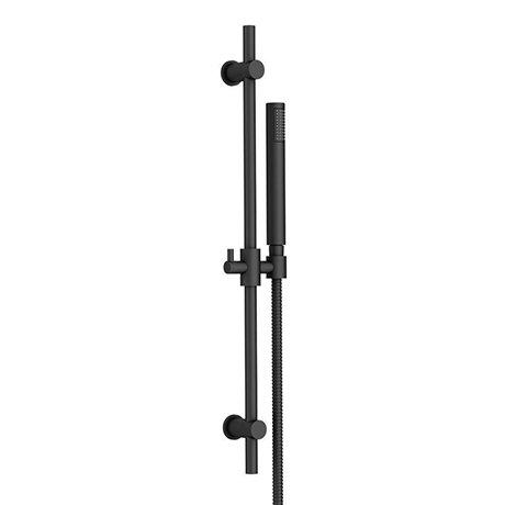 Arezzo Matt Black Modern Slide Rail Kit with Pencil Shower Handset